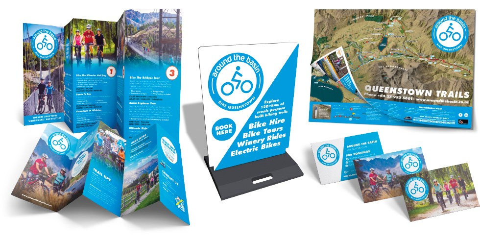 Around The Basin Marketing Collateral Logo Identity Design