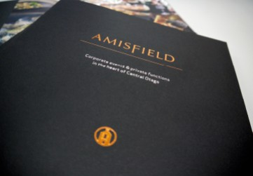 Amisfield offset printed booklet with gold foil