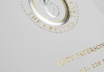 Letterheads Embossed and Foiled