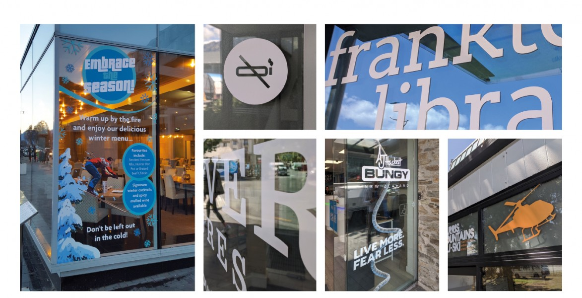 Window Decals: Display Graphics, Custom Sizes and Finishes