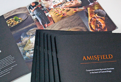 Amisfield Printing Booklet with Gold Foil